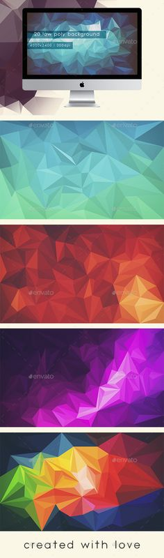 Low Polygon Backgrounds