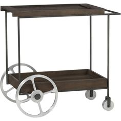 porter bar cart  | CB2 love the look and size only 1 drawback: only moves in 1 direction
