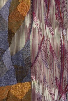 Detail of tapestry by Jennifer Sargent