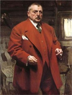 Self portrait in red by Anders Zorn
