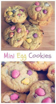 mini egg cookies easter baking idea kids can make Easter Cupcakes, Easter Cookies, Baking Cupcakes, Easter Treats, Baking Cookies, Easter Snacks, Easter Desserts, Baking Recipes For Kids, Baking With Kids