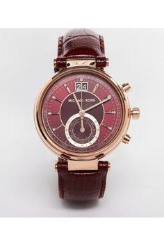 Dames horloges - Michael Kors Sawyer Leather MK2426 Watch