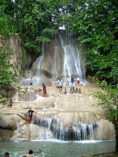Sai Yok Noi, a waterfall in the Tenasserim Hills, Sai Yok National Park, Sai Yok district, Kanchanaburi prov., Thailand. Very popular with Thai tourists, so don't go in the weekend or on a local holiday