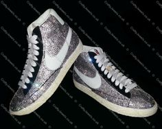 Fully Covered Diamante Crystal Nike Blazers www.craftyjewels.co.uk