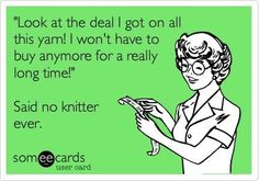 We all have stash, but we still buy #yarn! #knit #crochet
