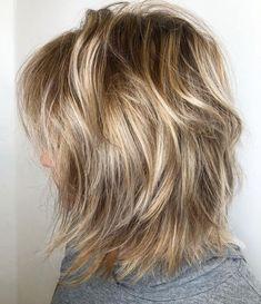 60 Most Universal Modern Shag Haircut Solutions - Blonde Sun-Kissed Messy Bob - Medium Layered Haircuts, Medium Hair Cuts, Medium Hair Styles, Short Hair Styles, Short Haircuts, Bob Wedding Hairstyles, Messy Bob Hairstyles, Beach Hairstyles, Hairstyle Men