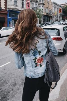 No Rest For Bridget: Amelia Embroidered Denim Jacket - $100