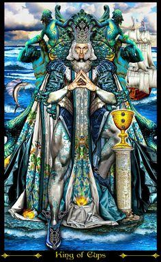 roi de coupes (2) - Tarot Illuminati par Erik Dunne