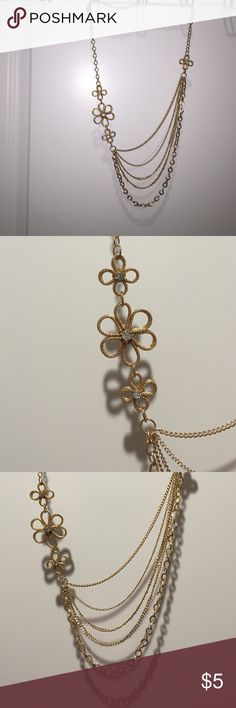 Gold Flower Layered Necklace Great to dress up a little black dress. From Target Jewelry Necklaces