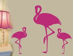 Hey, I found this really awesome Etsy listing at https://www.etsy.com/listing/89827392/flamingo-bird-wall-decal-art-vinyl