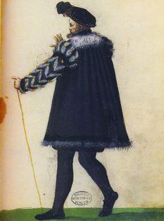 Gentlemans Attire, Milanese Tailor's Book, 1580s.