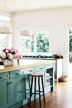 I would love a turquoise kitchen. Maybe a kitchenette. ( I don't think I'll have a kitchenette for a while) :)