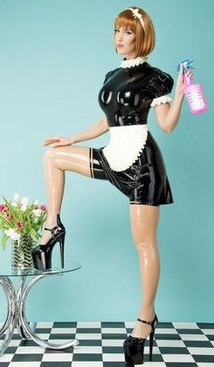Latex Gif, Sissy Maids, Maid Uniform, Maid Outfit, French Maid, Stockings, Cosplay, Costumes, Suits