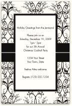 Simple black and white invitation