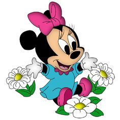 Disney Baby Minnie Mouse Cartoon png Clip Art Images On A Transparent Background