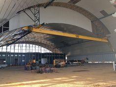 Grúas suspendidas para el hangar desplegable del A400M GH Cranes & Components