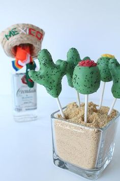 Cinco de Mayo Cactus Cake Pops - The Cake Crusader, Custom cakes in Western MA