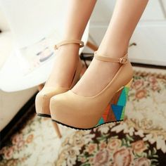 ae2b124364b0 Ankle Straps Women Wedges PU Leather Platform Shoes
