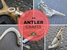 24 Ideas for using deer antler in various crafts. Also, included are 7 FREE antler craft tutorials.