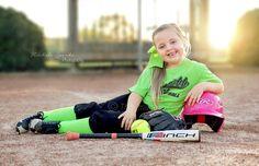 Softball portrait photography, softball pose idea, softball, little league, tball, children photography.