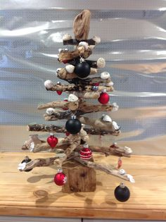 Driftwood christmas tree. Made from driftwood and shells collected on Guernsey beaches