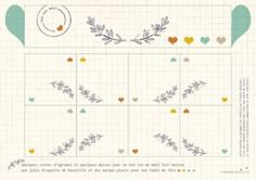 Etiquettes de table à découper l'Ence violette Print Design, Creations, Bullet Journal, Printables, Free Stuff, Paper, Prints, Gems, Orange