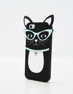 Carcasa móvil goma gatito