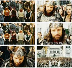 "Lord of the Rings: ""My friends. You bow to no one."" Little hobbit heroes! (gif)"