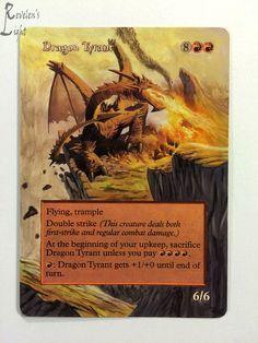 Dragon Tyrant - Full Art - MTG Alter - Revelen's Light Altered Art Magic Card