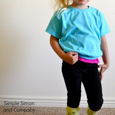 Lace Back T-shirt Tutorial - Simple Simon and Company