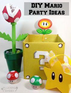 DIY Mario Party Ideas...Invitations, games, decor and more!   Pluckingdaisies.com