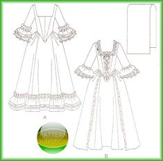 17th Century Clothing Dress Patterns