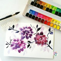 I shared this in Periscope weeks ago. I don't have  a chinese brush & I want to do chinese painting so I tried using this Escoda Ultimo mop brush instead. I love how it can pick up the colors and blend the colors in one swipe. This brush is one of my fave mop brushes to use  in case you are wondering I got the Alvaro Casagnet set from @artwhaleph which I still need to do a review on.