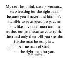 Stop looking for the right man