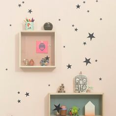 Mini Stars Wallsticker, Sort - Ferm Living - Ferm Living - RoyalDesign.no