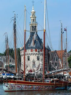 The Harbor of Hoorn, North Holland, the Netherlands by Hozi