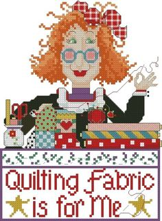 Quilting Fabric is for Me 5 x 7