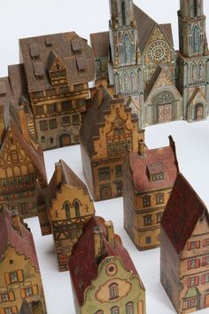 Rare Antique Toy Paper House Village - Lithograph Paper | From a unique collection of antique and modern toys at http://www.1stdibs.com/furniture/more-furniture-collectibles/toys/
