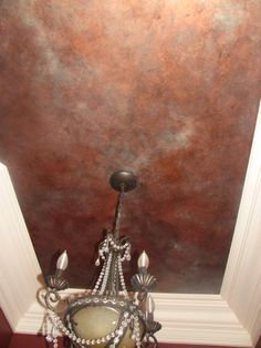Faux painted ceiling...like this finish for our bathroom walls