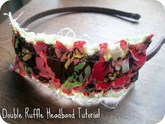 double ruffle headband