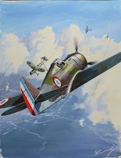 Curtiss H-75 (art by Perinotto)