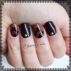 """For more designs check my Facebook page """"nails by stammy"""""""