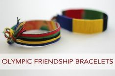 Olympic Friendship Bracelets via Life Your Way. A simple homemade gift to share with friends as you celebrate the Olympics! What other unique ways have you used cardboard to create?