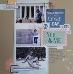Right side of Two Page Layout featuring February Kit from Scrapbook Circle.