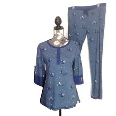 Munki Munki 2 Piece Size Large Pajama Set Henley Star Gazer Blue Celestial  #MunkiMunki #PajamaSets #Everyday #MunkiMunkiPJ #MunkiMunki #MunkiMunkiPajamas #StargazerPJ