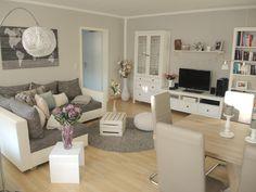 Geräumiges Wohnzimmer mit Wohn- und Essbereich. #Wohnzimmer #Einrichtung #livingroom #Essbereich