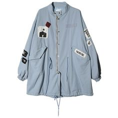 Graphic Patch Accent Jacket (Sky Blue) | STYLENANDA