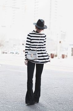 black and white stripes....and these flared jeans!   Spring 4bb168470a