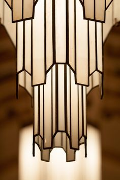 Art deco lamp: iconic shape echoed in other art deco lamps including Frankart Moderne