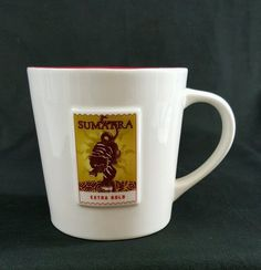 Starbucks Mug Sumatra Tiger Stamp Asia Pacific Coffee Cup Mug 2006 16 0z #Starbucks